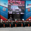 Celebration of the 67th anniversary of Victory Day (WWII) in Red Square on May 9, 2012 in Moscow, Russia. — Stock Video
