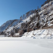 Stock Photo: Russia, Siberia, winter Baikal, the view of the old tunnel Circu