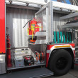 Equipment of fire truck - Stock Photo