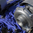 Stock Photo: One of turbochargers the powerful engine