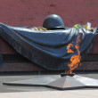 Tomb of the Unknown Soldier with burning flame in Alexander Gard - Stock Photo