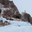 Russia, Siberia, winter Baikal, the view of the old tunnel — Stock Photo