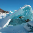 Ice hummocks in the winter at lake Baikal, Siberia, Russia — Stock Photo