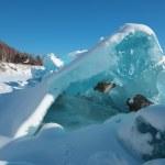 Ice hummocks in the winter at lake Baikal, Siberia, Russia — Stock Photo #24331489