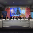 Press-conference 2013 European Artistic Gymnastics Championships — Stock Photo