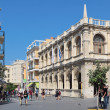 Old Town Hall, Iraklion (Heraklion), the urban landscape. Island of Crete, Greece - Stock Photo
