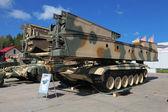 Armoured vehicle-launched bridge — Stock Photo