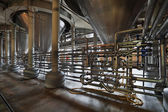 The interior of the brewery — Stock Photo