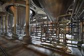 O interior da fábrica de cerveja — Foto Stock