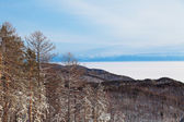 Russia, Siberia, winter landscape with views of the lake Baikal — Stock Photo