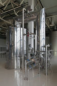 Brewing production - brewhouse, vacuum-evaporator, the interior — Stock Photo