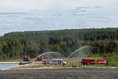 Training firemens — Stock Photo