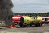 Fire train — Stock Photo