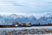 Rural landscape, Siberian village, Russia, Republic of Buryatia, — Stock Photo