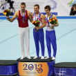 Daniel Keatings, Krisztian Berk and Max Whitlock — Stock Photo