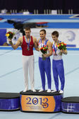 Daniel Keatings, Krisztian Berki and Max Whitlock — Stock Photo
