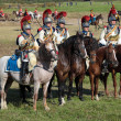 Stock Photo: Reenactment of Borodino battle