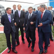 Постер, плакат: Dmitry Medvedev and Sergey Shoygu
