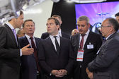 Sergei Ivanov, Dmitry Medvedev and Vladislav Masalov — Stock Photo