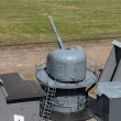 Stock Photo: The ship cannon at the military landfill