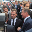 Постер, плакат: Dmitry Medvedev and Sergei Ivanov