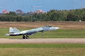 Landing Sukhoi PAK FA T-50 — Stock Photo