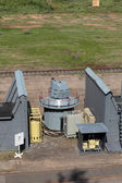 The ship quick-firing cannon at the military landfill — Stock Photo