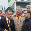 Постер, плакат: Evgeny Kuyvashev Vadim Badekha Dmitry Rogozin and Dmitry Medvedev