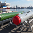 Anti-torpedo and guided bomb — Stock Photo