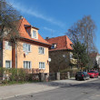 Stock Photo: Old houses on street, Kaliningrad city, Russia, formerly