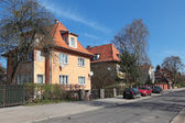 The old houses on the street, Kaliningrad city, Russia, formerly — Stock Photo