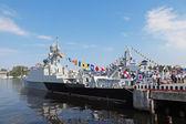 Gunship Makhachkala — Stock Photo