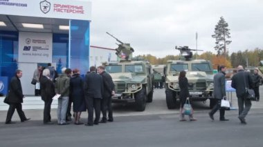 The russian armored cars — Stock Video