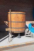 Barrel fermentation of the wort — Stock Photo