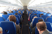 Airplaine interior — Stock Photo