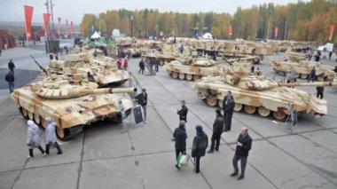 Heavy armor combat vehicles — Stock Video