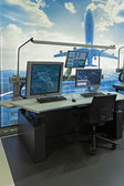 The equipment of air traffic controllers — Stock Photo