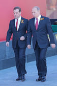 Vladimir Putin and Dmitry Medvedev — Stock Photo