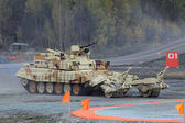 Armored vehicle for demining — Stock Photo