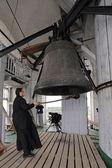 Church bell ringer — Stock Photo
