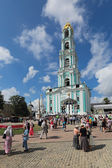 Bell tower Lavra of St. Sergius — Stock Photo