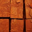 Damaged bricks — Stock Photo