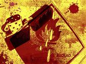 Grunge Fire danger background — Stock Photo