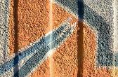 Graffiti wall close up photo — Stock Photo