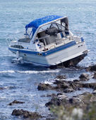 Boat crash — Stock Photo