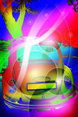 Colorful retro background — Stock Photo