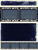 文本或图像的空间垃圾电影框架 — 图库照片