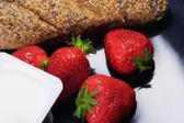 Fragola e yogurt — Foto Stock