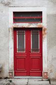 Red Vintage Doors — Zdjęcie stockowe