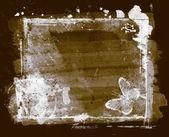 高详细的 grunge 抽象花卉背景 — 图库照片